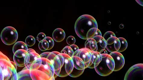 Animated Bubbles Wallpaper - animated bubbles rising up on black motion