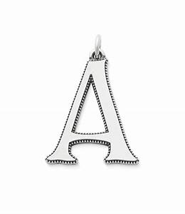 james avery vintage alphabet initial pendant dillards With james avery letter necklace