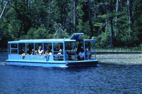 Wakulla Springs Boat Tour by Florida Memory View Showing A Glass Bottom Tour Boat At