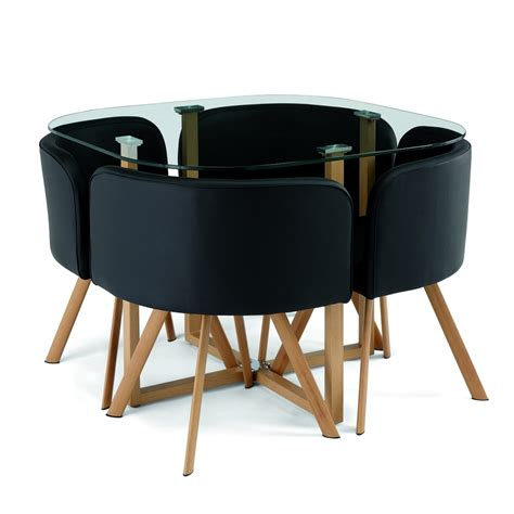 ensemble table et chaise but deco in ensemble table 4 chaises encastrable noir