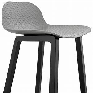 Tabouret Mi Hauteur : tabouret de bar chaise de bar mi hauteur design obeline mini gris clair ~ Teatrodelosmanantiales.com Idées de Décoration