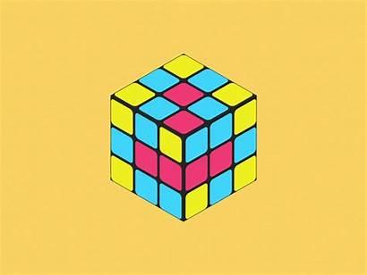 3d Square Puzzle Cube Dribbble Rotation Animation
