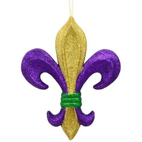 "10"" PGG Glitter Fleur de Lis Ornament [MZ175252 ..."