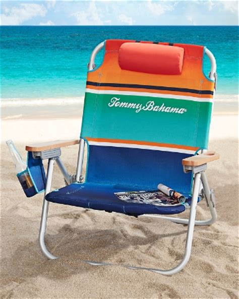 striped deluxe backpack beach chair