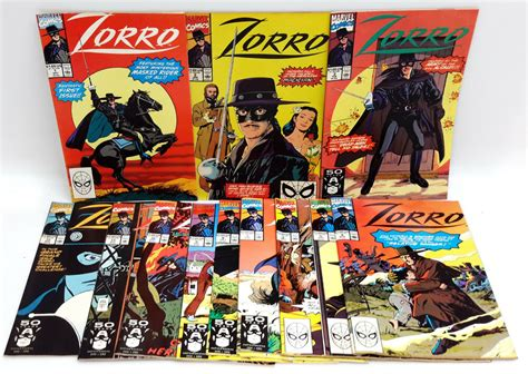 1990 Marvel Zorro Comic Book Collection- Your Choice Of #1