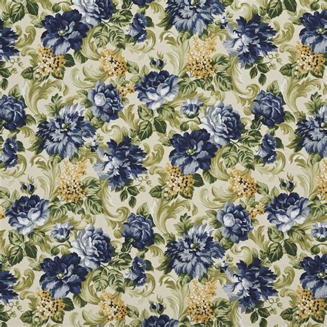 Floral Upholstery Fabric by E314 Blue And Green Floral Indoor And Outdoor Upholstery