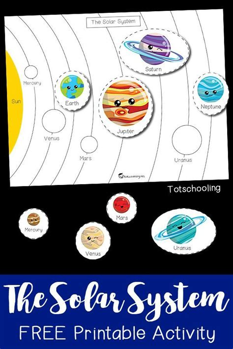 solar system printable activity space activities