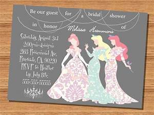 princess wedding shower invitation disney princesses With disney wedding invitations australia