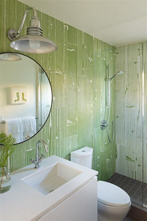 green  white transitional guest bathroom hgtv