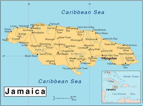 maps  jamaica