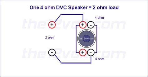 Subwoofer Wiring Diagram For One Ohm Single Voice Coil
