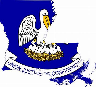 Louisiana Flag Map Clipart State Office Stamps