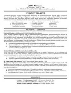 Resumes For Vice Principals by 10 Best Images About Resume Sles On Entry Level Template And Middle School