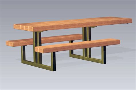 steel picnic table frame timberform site furnishings
