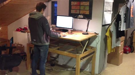 demo 1 diy liftable stand up rising desk table