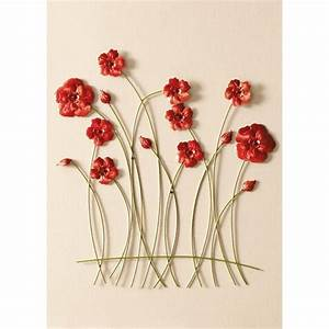 Buy collection chrissie metal flower wall art at argos