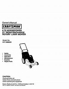 Craftsman Lawn Mower 917 38862 User Guide