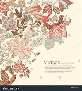 Stylish Vintage Floral Background In Pastel Tones Stock ...