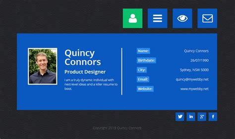 vcard template free 20 free and premium vcard cv web templates xdesigns