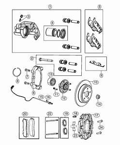 2016 Jeep Grand Cherokee Caliper Assembly  Disc Brake