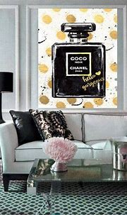 Chanel Perfume Painting, Chanel Canvas Print, Coco Chanel ...