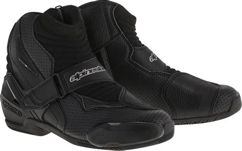 motorcycle street racing boots mens alpinestars black textile pro vented smx 1r