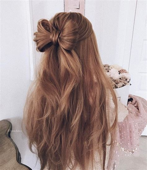 cute hair bow style  inspire  wedding hairstyle