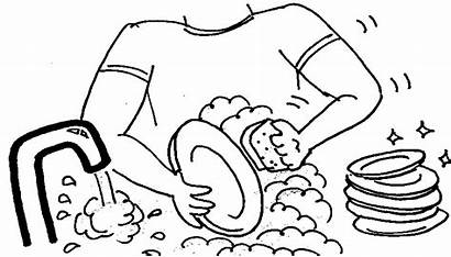 Dishes Clipart Washing Clean Wash Cleaning Away