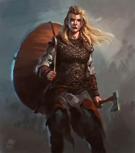 Female Viking warrior 2 by Raph04art woman shield maiden ...