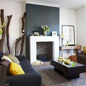 Charcoal grey and white living room | Living room ...