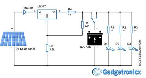 Solar Powered Led Light Circuit Panels