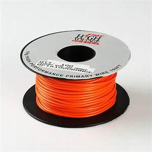 100ft Orange Primary Wire 18 Gauge Awg Stranded Copper