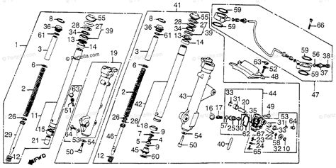 honda motorcycle 1983 oem parts diagram for front fork partzilla