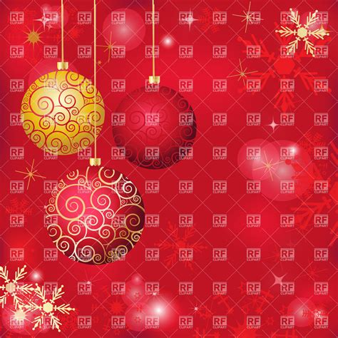 red holiday background  snowflakes  christmas balls