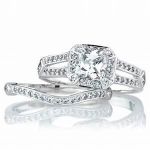 24 good wedding ring sets princess cut navokalcom With princess cut wedding rings sets