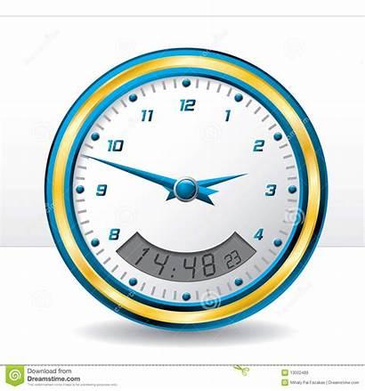 Digital Wall Clock Analog Royalty Illustration