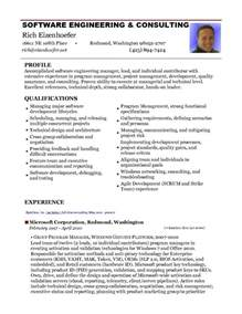 software architect resume template sle resume senior software engineer dice insights