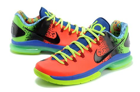 New Kd 5 Low Elite Orange Blue Green Shoes [new002]