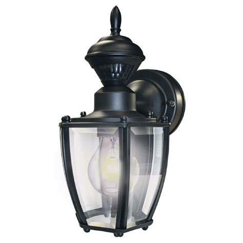 motion activated porch light shop secure home 11 in h black motion activated outdoor
