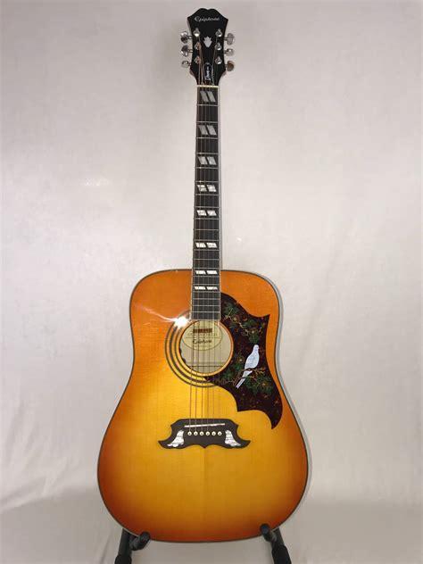 Harga Gitar Epiphone Dove Pro epiphone dove pro acoustic electric refurbished guitar