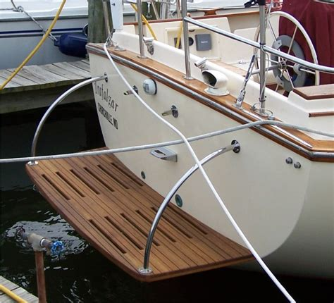 Sailboat Swim Platform teak swim dive platforms custom teak marine woodwork