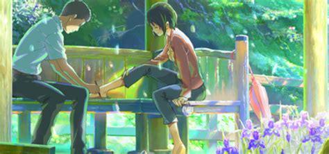 garden of words shinkai s garden of words dub premiering at anime expo