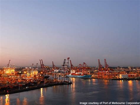 Home Overlooking Melbournes Shipping Ports by Port Of Melbourne Ship Technology