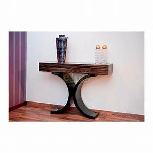 Console entree design contemporain bois et laque 3 tiroirs ixe for Entree design contemporain