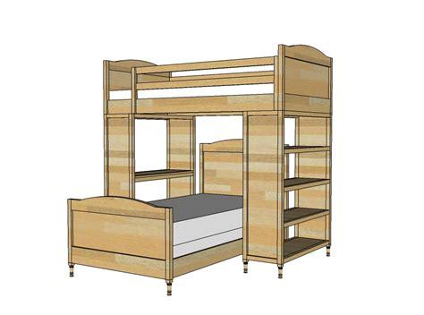 bunk bed building plans bed plans diy blueprints
