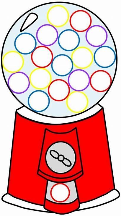 Clipart Gumball Machine Empty Worksheet Cliparts Gum