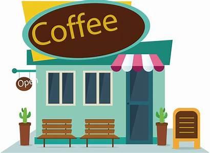 Cafe Coffee Vector Clip Fast Clipart Cartoon
