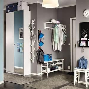1000 idees de vestiaire d39ikea sur pinterest vestibules With porte d entrée alu avec armoire salle de bain grise