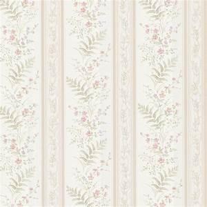 Brewster 56.4 sq. ft. Bell Pink Wildflower Stripe ...