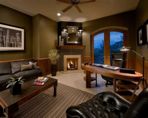15 Warm Cozy Home Office Designs Fireplaces